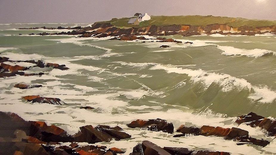 L'île de Raguenès - acrylique sur contrecollé - 80 x 59 cm © Henri Belbéoc'h