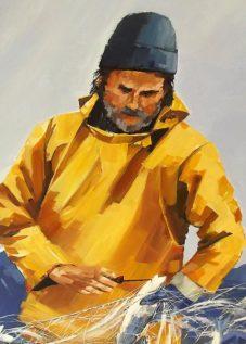 Le marin au cire jaune - acrylique sur toile - 72 x 60 cm - © Henri Belbéoc'h