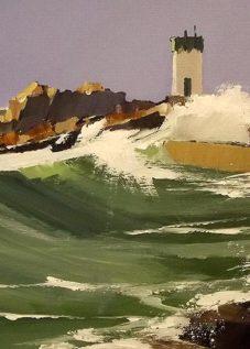 Le phare de Trevignon - acrylique sur toile - © Henri Belbéoc'h