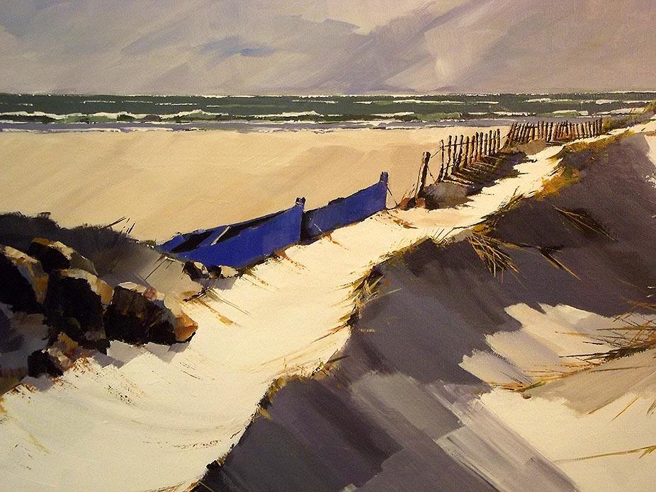 Les dunes - acrylique sur toile - © Henri Belbéoc'h