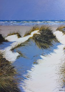 Henri BELBEOCH Les dunes Acrylique sur contrecolle