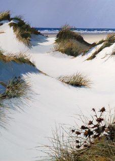 Henri BELBEOCH Les dunes de Tronoen Acrylique sur toile 100x81 1